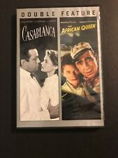 Casablanca & The African Queen - Double Feature (Dvd)   Good Cond. but scratched