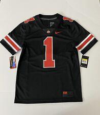 Nike Ohio State Buckeyes Limited Black Blackout Sz S (Fields) Osu Jersey Red #1