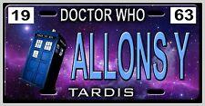L@@K! Doctor Who Allons-Y Tardis Car Vanity Tag  - License Plate