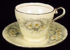 Aynsley Pale Yellow Flowers Bone China Cup & Saucer