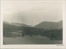 Allemagne, Maisons dans la vallée, 14 octobre 1928, vintage silver print Vintage