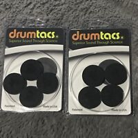 2 Packs Drumtacs Tonal Control Pads for Drums and Cymbals