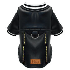 Waterproof Leather Dog Jacket Small Medium Pet Clothing Coat Winter Apparel US