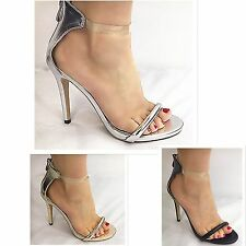 Woman  HIGH HEEL STILETTO PEEP TOE ANKLE STRAPS CUFF SANDALS SHOES party shoes