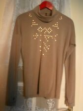 Neuf Beau SOUS PULL TEE SHIRT PULL CLOUTES marque COP COPINE BEIGE taille 38  40
