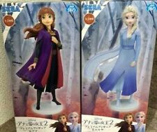 Frozen 2 Premium Figure Elsa Anna Set of 2 SEGA Japan F/S