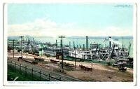 Early 1900s The Levee from the Bluff, Memphis, TN Postcard *5C