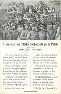 Prima guerra mondiale - Ai combattenti per la Patria / illustratore Contarini