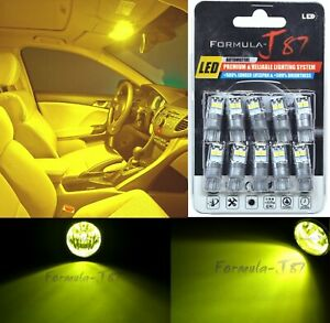 LED 3030 Light Yellow 3000K 194 Ten Bulbs License Plate Tag Upgrade Lamp Philips