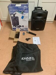 Ibiza Sound Port10VHF-BT 500W Mobile Sound PA DJ Beschallungsanlage Bluetooth
