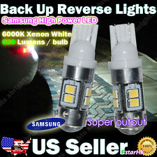 2 pcs 921 912 906 Samsung LED Back up Reverse Light Projector Lens HID White