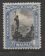 "MALTA - 1930 GV ""POSTAGE & REVENUE"" 3/-  MINT SG.207.  (REF.D352)"