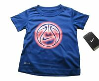 Nike Little Boys Toddler Short Sleeve Dri Fit Shirt Tee Royal Blue Soccer 2-4T