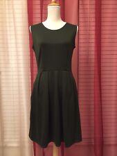 Dark Green Midi Dress L