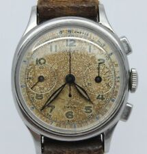 VINTAGE Gallet Commander Mens 30mm Oval Steel Chronograph Watch EP42 = ORIGINAL