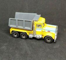 Vintage 1981 Matchbox Peterbilt Yellow PACE Dump Truck Diecast 1:80 Semi Trailer