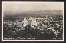 RP Postcard ASHEVILLE North Carolina/NC  Local Area Town Aerial view 1920's