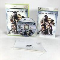 Dead or Alive 4 (Xbox 360, 2005) Video Game CIB Manuals DOA 4 Tecmo