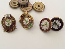 4 VINTAGE BROTHERHOOD OF RAILROAD TRAINMEN PINS