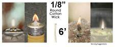 1/8 Round Cotton Wick 6' Kerosene Lantern Lamp Tiki Rock Candle Wick USA Seller