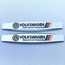 NEW (2pc) VW VOLKSWAGEN LOGO FENDER DOOR METAL EMBLEM NAMEPLATE BADGE EM149