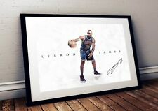 Lebron James NBA Cleveland Cavaliers Autographed Poster Print. A3 A2 A1 Sizes