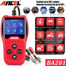 Battery Load Tester Auto 12V Digital Analyzer Alternator Cranking Charging Test