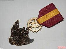 Steampunk brooch badge Medal pindrape Harry Potter Gryffindor Hogwarts owl