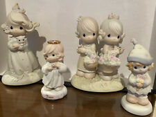 LOT OF 4 VINTAGE ENESCO PRECIOUS MOMENTS FIGURINES. Excellent Condition