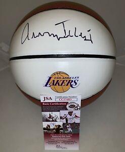 Jerry West signed LA Los Angeles Lakers Logo F/S Full Size basketball Ball JSA