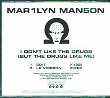 Marilyn Manson – I Don't Like The Drugs (But The Drugs Like Me) CD Promo Single