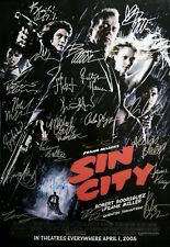 Sin City Movie Poster Signed by 22 cast members, Excellent condition replica