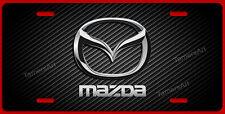 MAZDA LICENSE PLATE BLACK CARBON FIBER ILLUSION,  MAde in USA