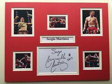 "Boxing Sergio Martinez Signed 16"" X 12"" Double Mounted Display"