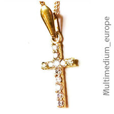 333 er Gold Kreuz Anhänger Zirkonia gold cross pendant 8ct zirconia Gelbgold