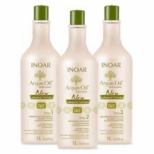 INOAR Argan Oil Shampoo, Smoothing Treatment & Reconstructing Balm (SET)(1000ml)