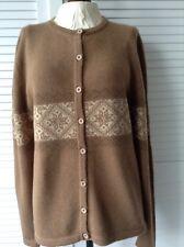 Goyo cashmere soft camel wool cardigan L
