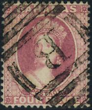 """Bahamas 1860 """"Königin Viktoria"""" 4 Pence, MiNr 3A, gestempelt"""