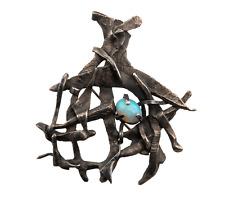 A Vintage Brutalist Opal Mounted Pendant