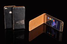 HTC ONE M8 Echt Leder Flip Case Cover Handy Klapp Tasche Schutzhülle Etui