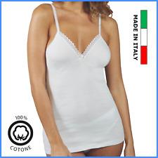 Canotta intima da donna con forma del seno in puro cotone 100% taglie forti
