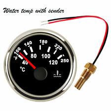 "Water Temp Gauge With Sender 40-120C 100-250F temperature Gauge 52mm/2-1/16"" Car"