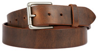Distressed Brown leather belt. Amish made in the USA. Lifetime warranty.