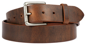 Distressed Brown leather belt with Lifetime warranty. Made in the USA Full Grain