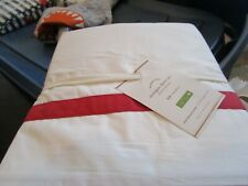 Pottery Barn Morgan full sheet set cherry  red  400 TC New