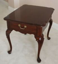 """ETHAN ALLEN CHERRY END TABLE WITH ONE DRAWER 21.5""""W x 26.5""""D x 23""""H SoCal pickup"""