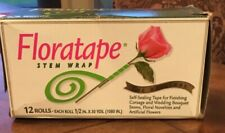 Floral Tape, Stem Wrap 12 rolls 1/2 in. x 30 Yards, Value Pack, Light Green