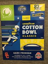 OFFICIAL 2017 COTTON BOWL GAME PROGRAM *OHIO STATE-USC* FREE SHIP!