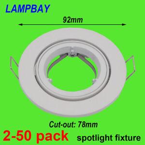 Spotlight Fixture 50mm Bulb Fitting Downlight Housing GU10 MR16 Lamp Bracket