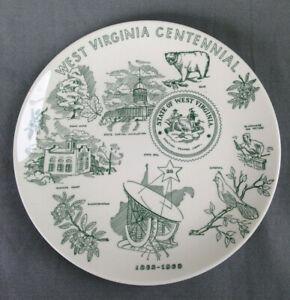West Virginia Centennial Souvenir Plate Homer Laughlin--Free Ship